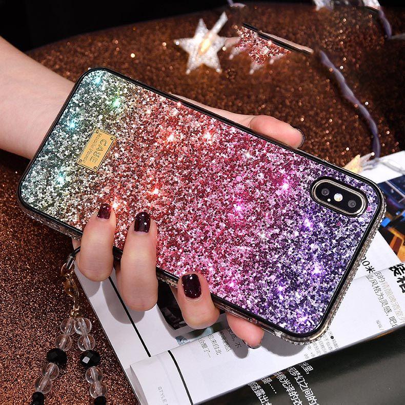 Dropshipping Gradient Glitter Premium Case For Iphone 11 pro x s r max 6 s 7 8 plus Luxury Designer Phone cases Protective Phone Cover C1102