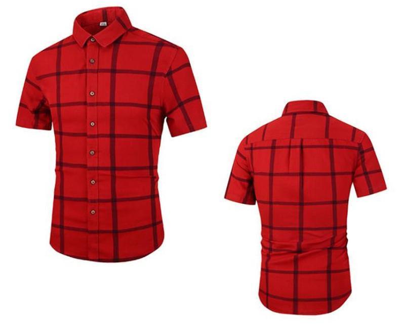 Hommes Chemises Mode Hommes d'été Hauts manches courtes Homme Chemises à carreaux Print Designer