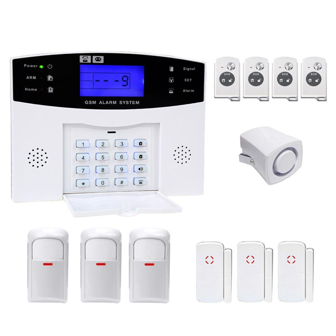 YA-500-GSM-25 12 in 1 Kit Wireless 433MHz GSM SMS Security Home House Burglar Alarm System with LCD Screen