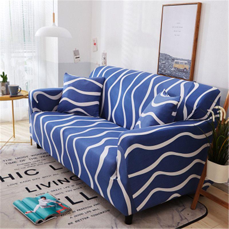 موضة جديدة مرنة يغطي أريكة موجات نمط الغلاف الغلاف قابل للغسل العالمي الغلاف الغلاف الكرتون وسادة شحن مجاني