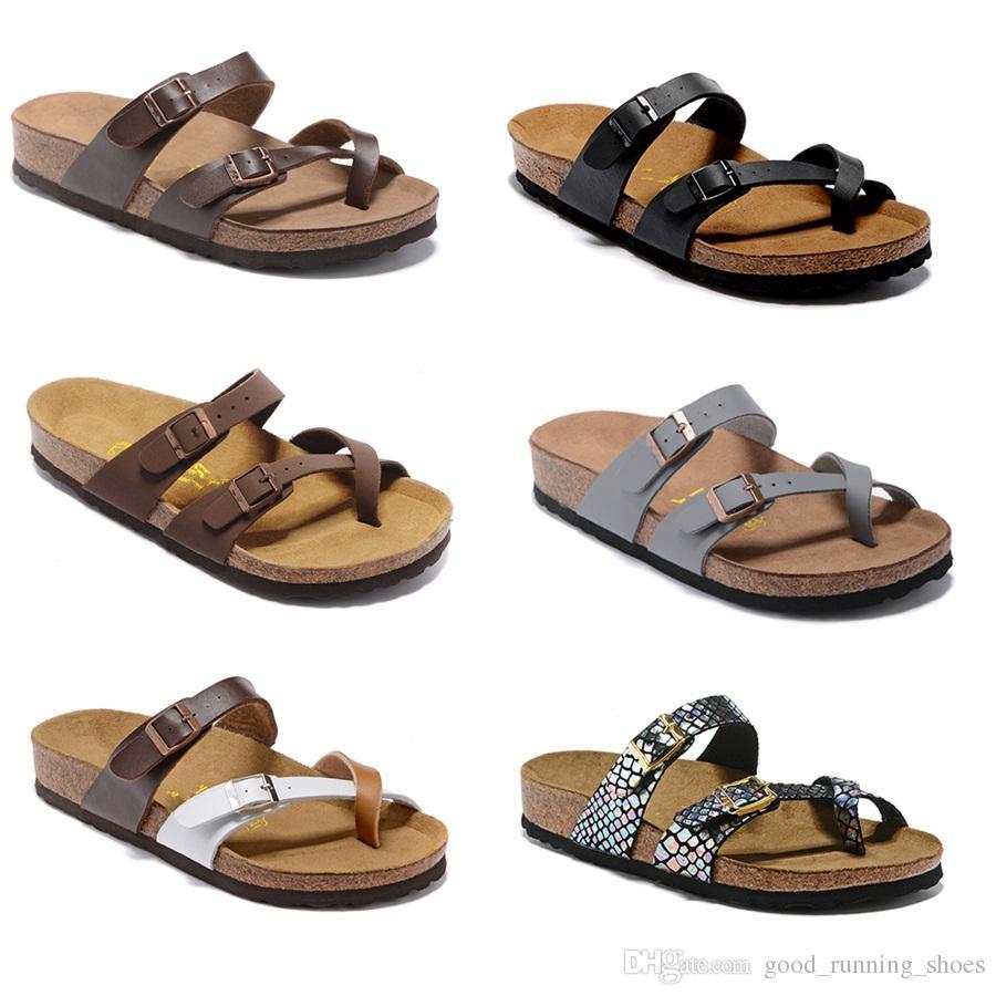 805 Mayari Arizona Gizeh 2018 rue été hommes femmes sandales plates des pantoufles en liège unisexe sand beah casual chaussures imprimer mixte sandales de plage