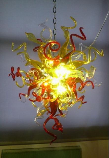 Casa elegante lampadario illuminazione 100% soffiato borosilicato Chihuly mano di stile soffiato antico lampadario luce di vetro
