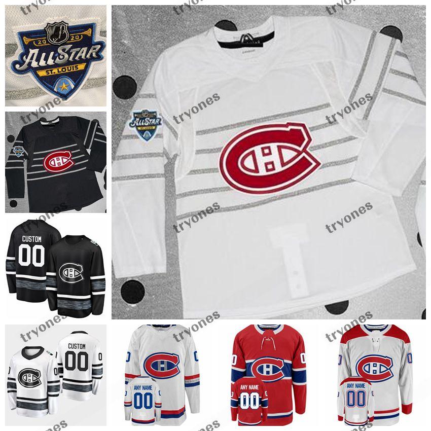 Personalizza 2020 All Star Game 6 Shea Weber 31 Carey Price Max Domi Montreal Canadiens Hockey Jersey Kovalchuk Drouin Gallagher Lehkonen Byron