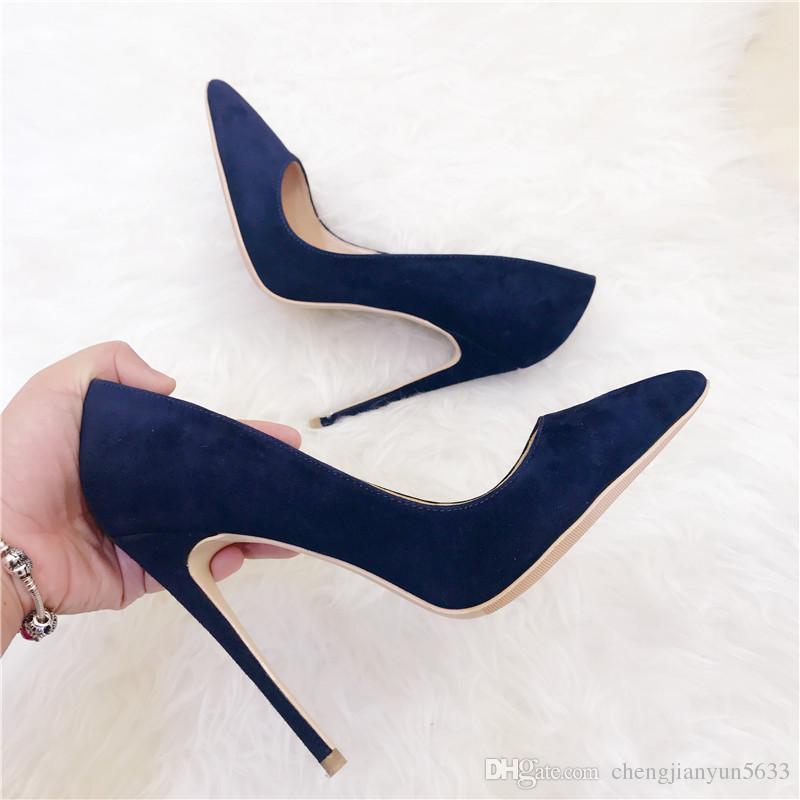 Women New Lady 2019 Wedding Dark Blue