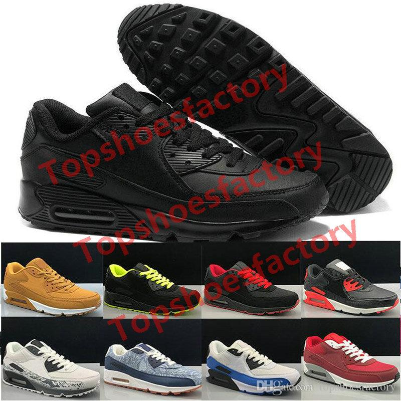 2019 Men 90 Running Shoes Virgil Designer World cup Triple White Black Red off Sneakers 90s Trainers classic Sports Chaussures zapatos 36-45