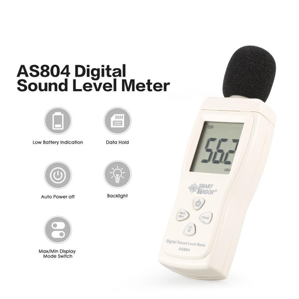 Smart Sensor As804 Digital Sound Level Meter Decibel 30d-130dba Diagnostic-tool Monitoring Tester Noise Db Detector Analyzer T8190619