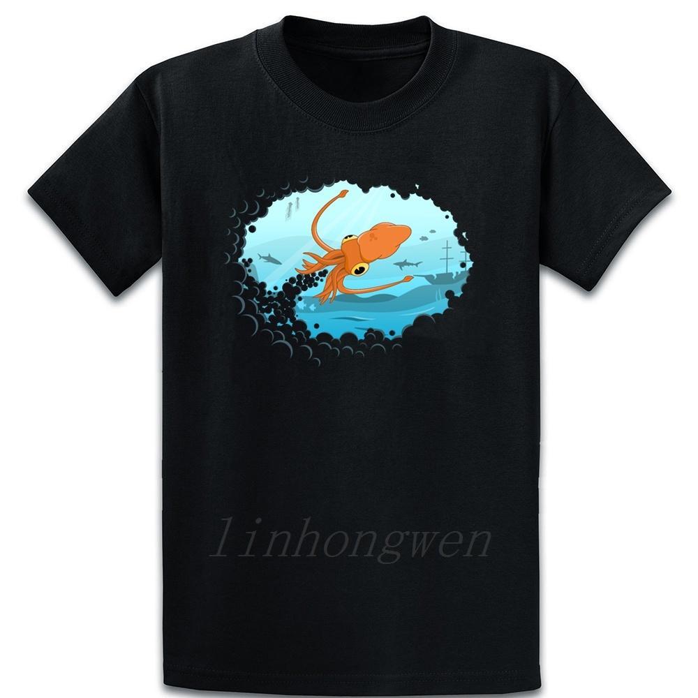 Squid T Shirt Designing Interesting Standard Kawaii Spring Over Size S-5XL Cotton Funny Shirt
