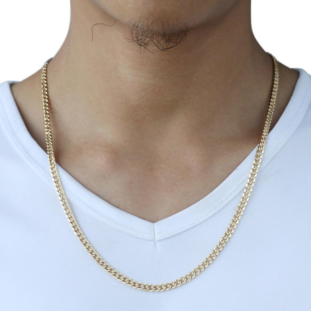 Trendsmax Uomo cubano Catena collana catena dell'oro riempito della collana del regalo per gli uomini di Hiphop dei monili all'ingrosso 4,5 millimetri 50 centimetri 60 centimetri GN438