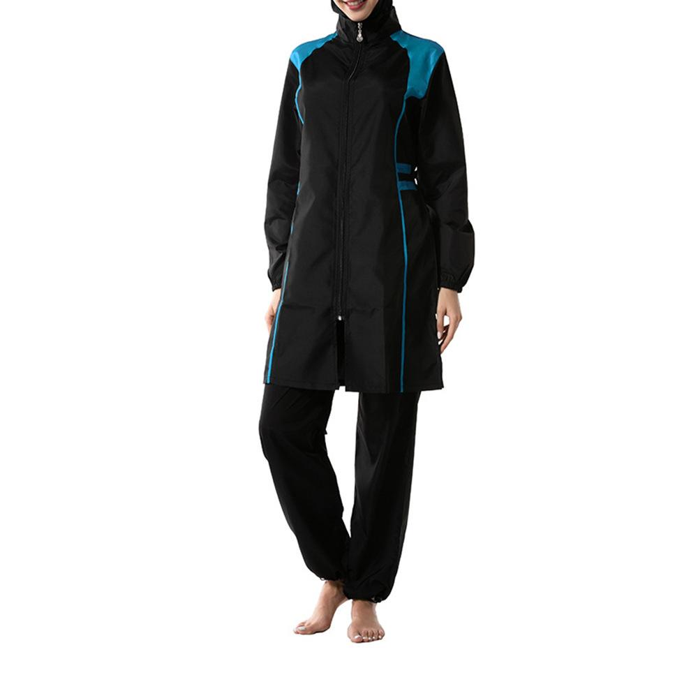Plus Size Muslim Women Swimsuit Modest Islamic Swim Suit 3 Pieces Hooded Full Coverage Swimwear Beachwear Swimming Bathing Suit