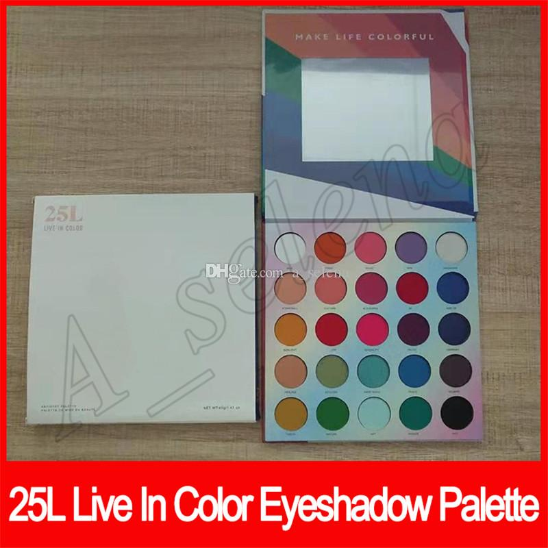 Eye Makeup Eye Shadow Palette 25 Colors Shimmer Matte Eyeshadow Live In Color 25L Long Lasting Waterproof Eye Shadow