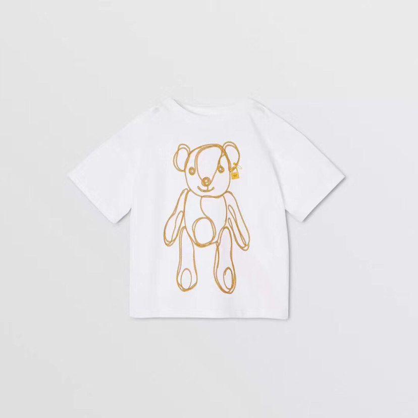 Children T-shirt 2020 new kids fashion clothing spring bear print short sleeve WSJ002 #122039