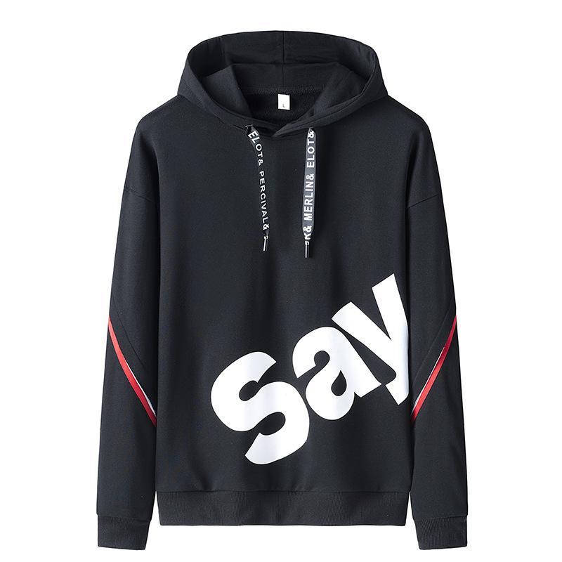 il progettista del mens Autunno sciolto hoodie casuale incappucciato maglione sportivo top studentessa di moda