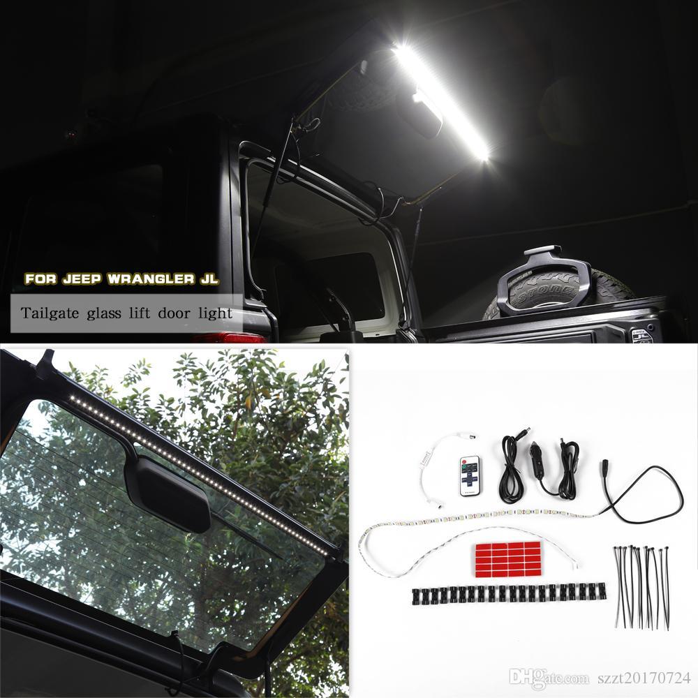 Jeep Wrangler TJ JK JL 1997+ Araç İç Aksesuar Bagaj kapağı LED Işık Şeridi Arka Kuyruk Bagaj LED Işık