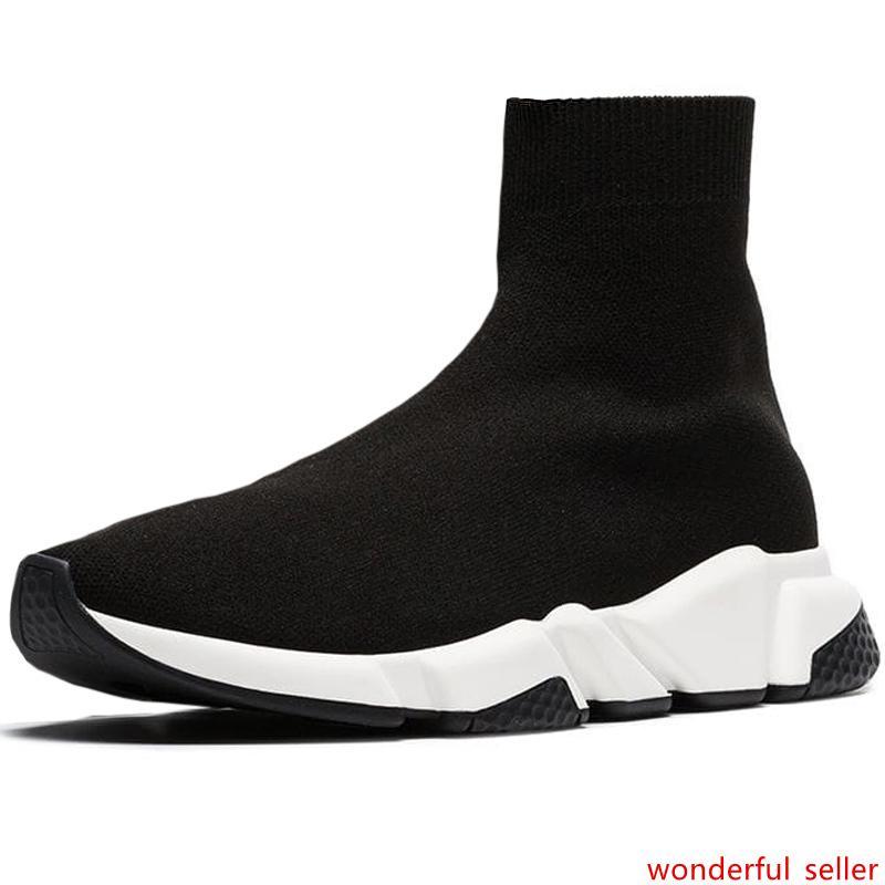 Designer Sock Scarpe Uomo Calze Velocità lusso di modo donne Sneakers Triple Black White Runner addestratori comode scarpe casual leggeri
