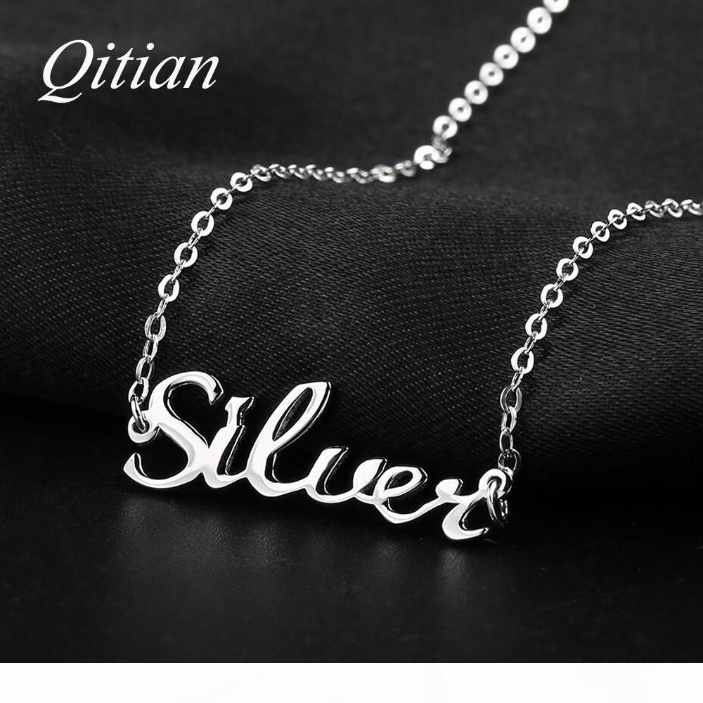 Iprome 925 Sterling Silver Personalized Name Necklace Custom Initial Name for Woman