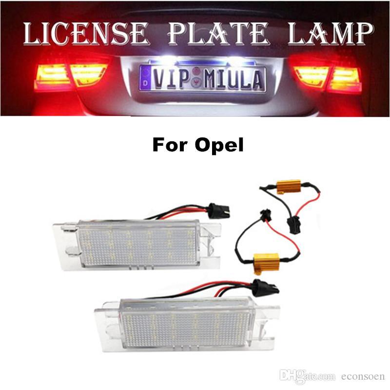 LED Plaka Lambası için Opel 6500K 12V Beyaz Renk Oto LED Ampul Araç Aksesuarları Boyut 110x60x45mm