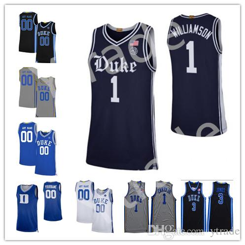 NCAA encargo 2020 Nueva Duke Blue Devils 100a Armada rivalidad Hermandad jerseys del baloncesto Vernon Carey Jr. Tre Jones Colegio jerseys S-4XL