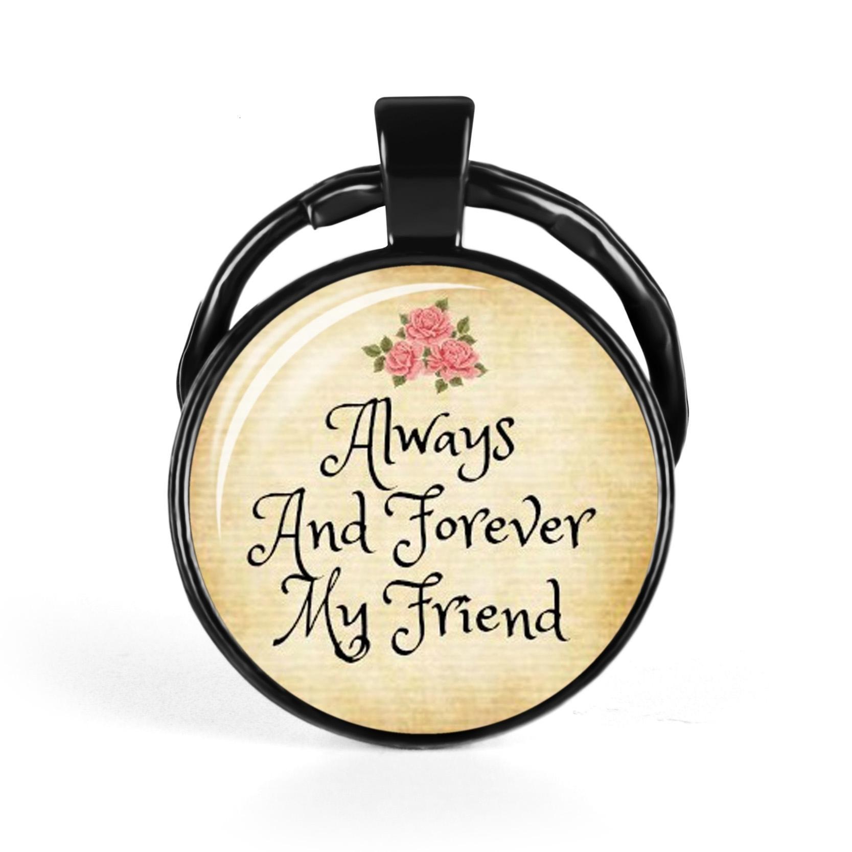 Я люблю, что ты мой друг брелок Стеклянный купол брелоков Подвески Рождество Шарм Подарок ювелирных изделий способа Friendship подарков
