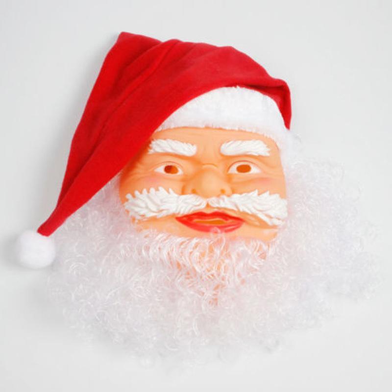 Санта-Клаус Маска Рождество маскарад партии маска Смешные партия Косплей Soft Full Face Маски Xmas игрушки Новогоднее украшение DBC VT1168