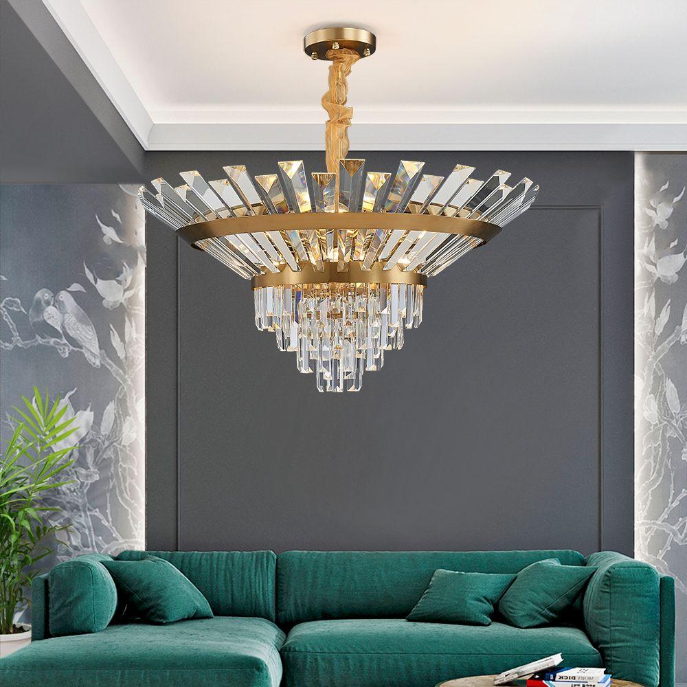 Luxuxkristallleuchter Blumen wie Glitzernde Runde Beleuchtung LED-Innenhängelampe für Esszimmer Wohnzimmer moderne Zimmer AC 90-250V