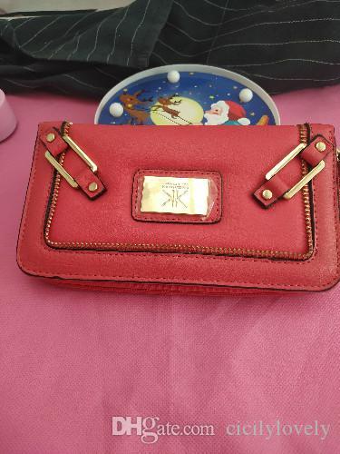 2020 schöne klassische Mode Kk Brieftasche lange Damen Brieftasche PU Leder Kardash Serie hochwertige Handtasche