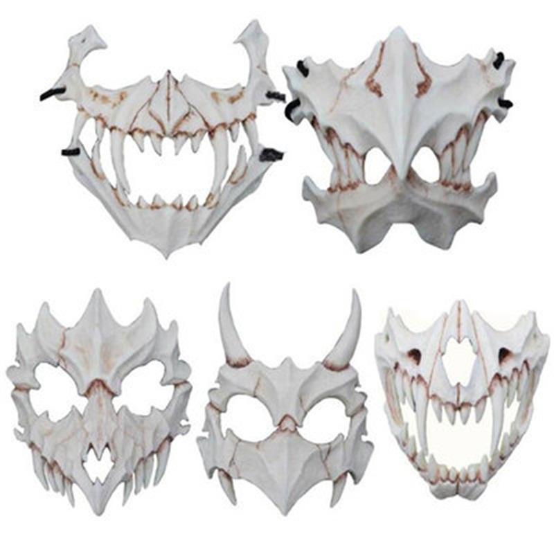 Оптовая Fierce Tiger Mask Бог Дракона Yaksha Террор лицо Косметики Смола Маска Экология Halloween Party питание 61ax H1