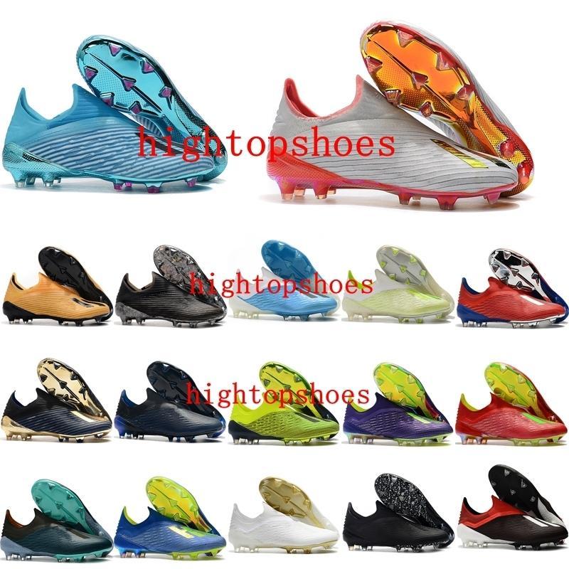 mens 2019 de calidad superior zapatos de fútbol 19 X FG tacos de fútbol baratas nemeziz x 18 fg calcio botas de fútbol scarpe
