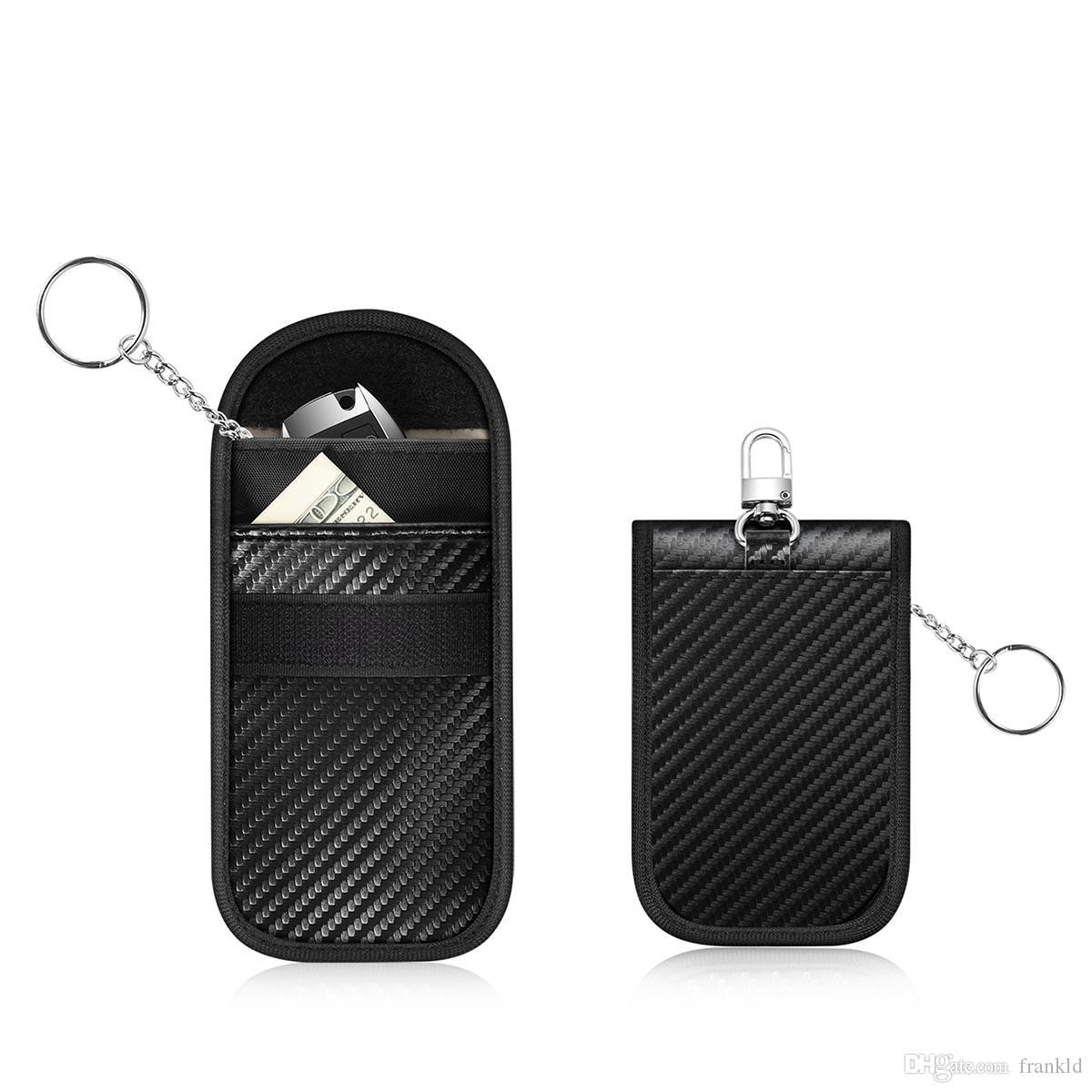 RFID Signal Blocking Bag Signal Shielding Pouch Wallet Case for Car Key Fob UK