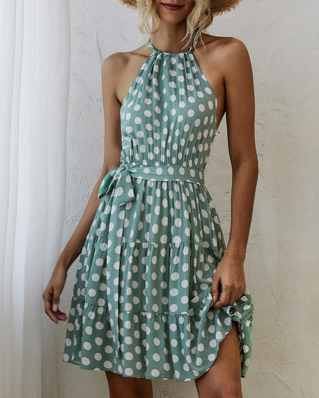 Мода женщин Дизайнерские платья с набивным 2020 Новый летний женский Повседневные платья верхнего качества Streetwear Размер одежды S-XL PH-YF205266