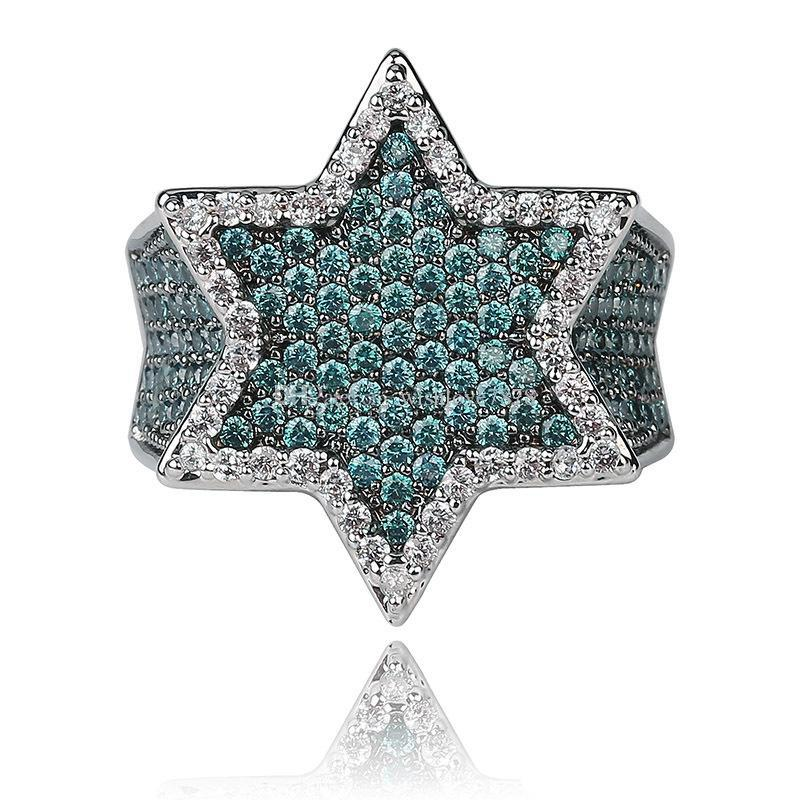 Anéis de luxo dos homens anéis de noivado anel de casamento dos homens de ouro anel de amor de prata verde anéis de diamante Designer de Jóias homem acessórios de moda