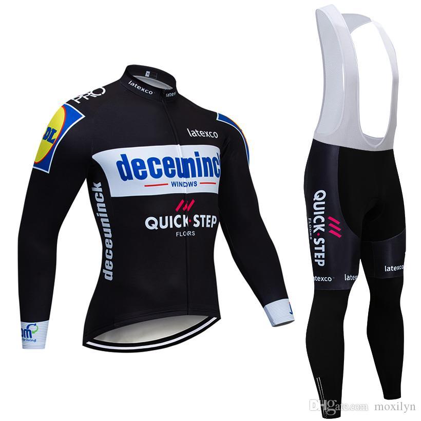 2019 فريق Quickstep الدراجات سترة 20d الدراجة السراويل مجموعة روبا ciclismo رجل الشتاء الحراري الصوف الموالية ركوب الدراجات جيرسي مايلوت ارتداء