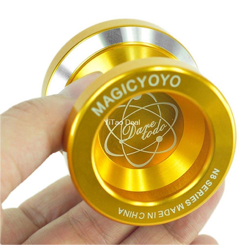 Yoyo Bola Gloden Magia Moda YoYo N8 Dare To Do liga de alumínio Professional YoYo Toy Y200428