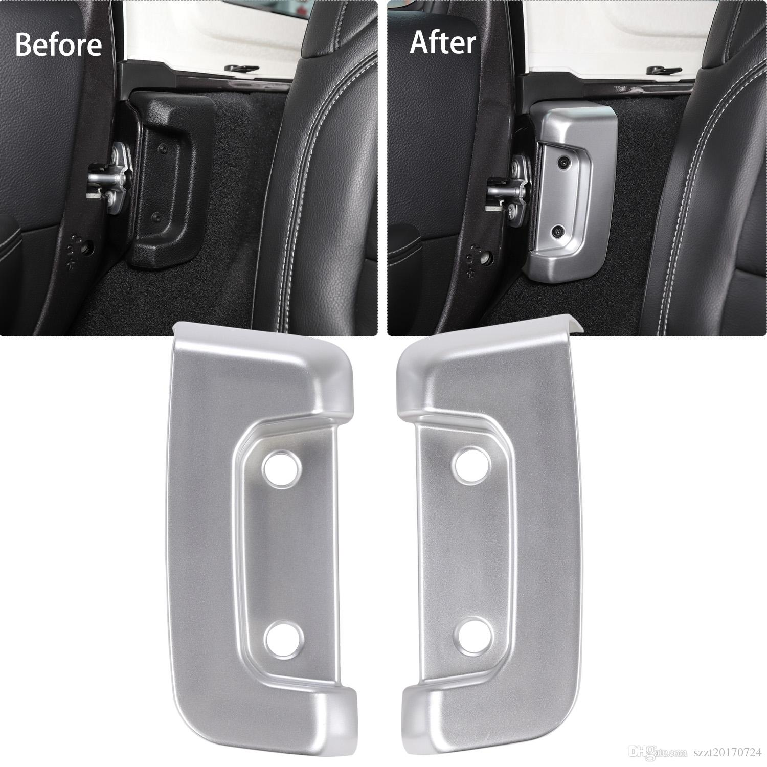 Rear Door Lock Inside Decorative Cover Silver For Jeep Wrangler JL 2018 Factory Outlet High Quatlity Auto Internal Accessories