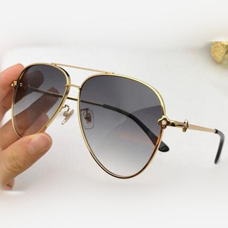 جديد مصمم أزياء النساء نظارات شمسية 0951 طيار إطار بسيط الشعبية الطليعية أسلوب أعلى جودة UV400 في الهواء الطلق عدسة النظارات