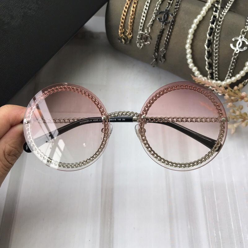 Prodotti di tendenza donne designer occhiali da sole rosa moda rotonda lettera modello vintage nero retrò occhiali da sole donna 4245