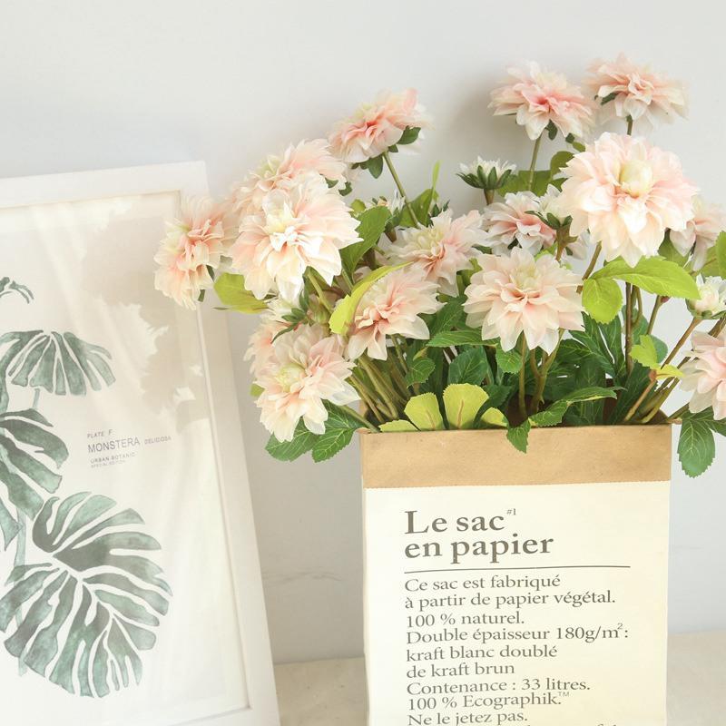 10 pçs / lote flor Artificial dahlia fabricantes de decoração para casa segurando flores estrada flores de chumbo flor planta de parede flores falsas