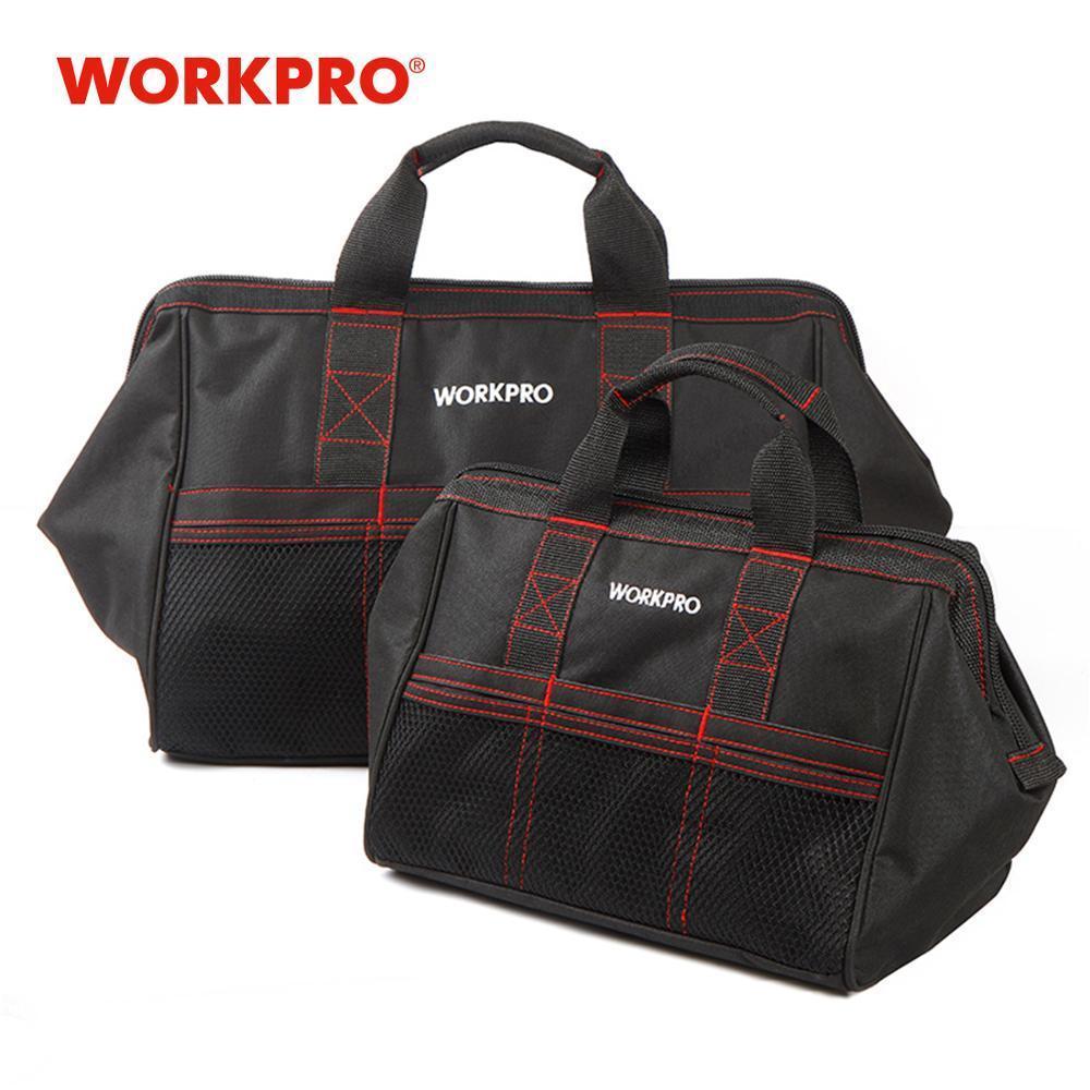 """WORKPRO 2-Piece bolsa de herramientas Combo 13"""" 18"""" Herramientas bolsas impermeables de viaje bolsos robusta Bolsas Y200324"""