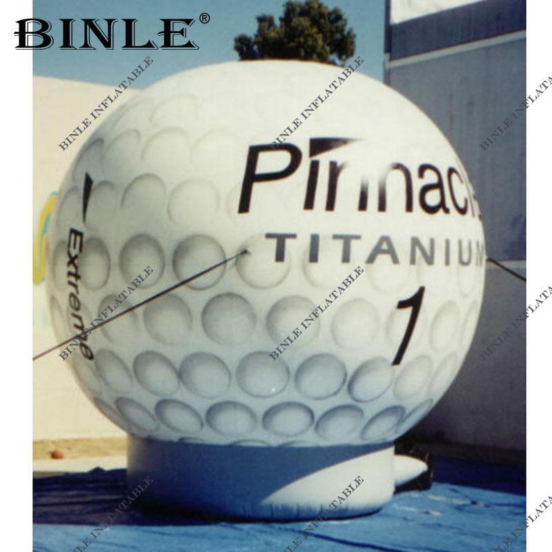 الديكور الأرض ضخمة الكرة نفخ الغولف مع العلامة التجارية اسم للدعاية الحدث