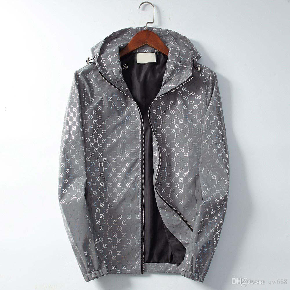 Париж Европа новый высокое качество мужская куртка Medusa классические мужчины и женщины тонкий ветровка светоотражающие капюшоном флуоресцентный ветер