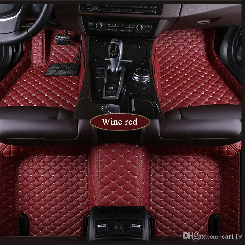 Custom Car Floor Mats for Toyota RAV4 5-Seats 2006-2008 Full Coverage All Weather Protection Waterproof Non-Slip Leather Liner Set