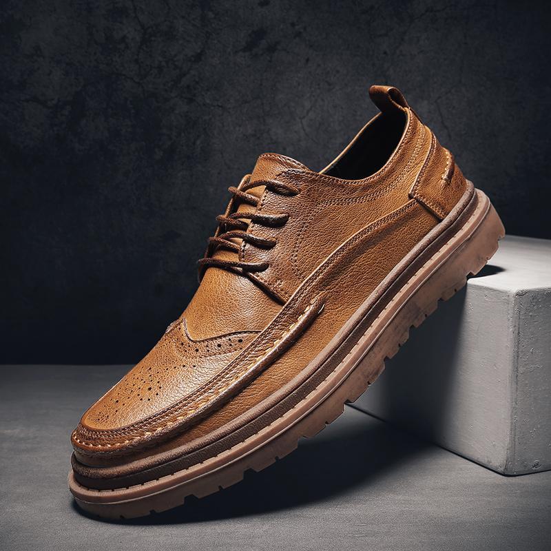 عارضة أحذية جلد طبيعي للرجال تنفس قارب الأحذية المصنوعة يدويا خياطة ملابس مقاومة للرجال الرجال Mocasines هومبر 5
