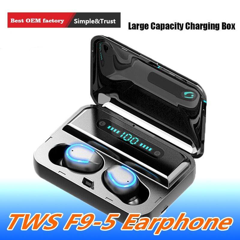 Güç Bankası Stereo Gaming kulaklık Spor Kulaklık iPhone Xiaomi ile Bluetooth Kulaklık TWS Kablosuz Kulaklık LED Ekran