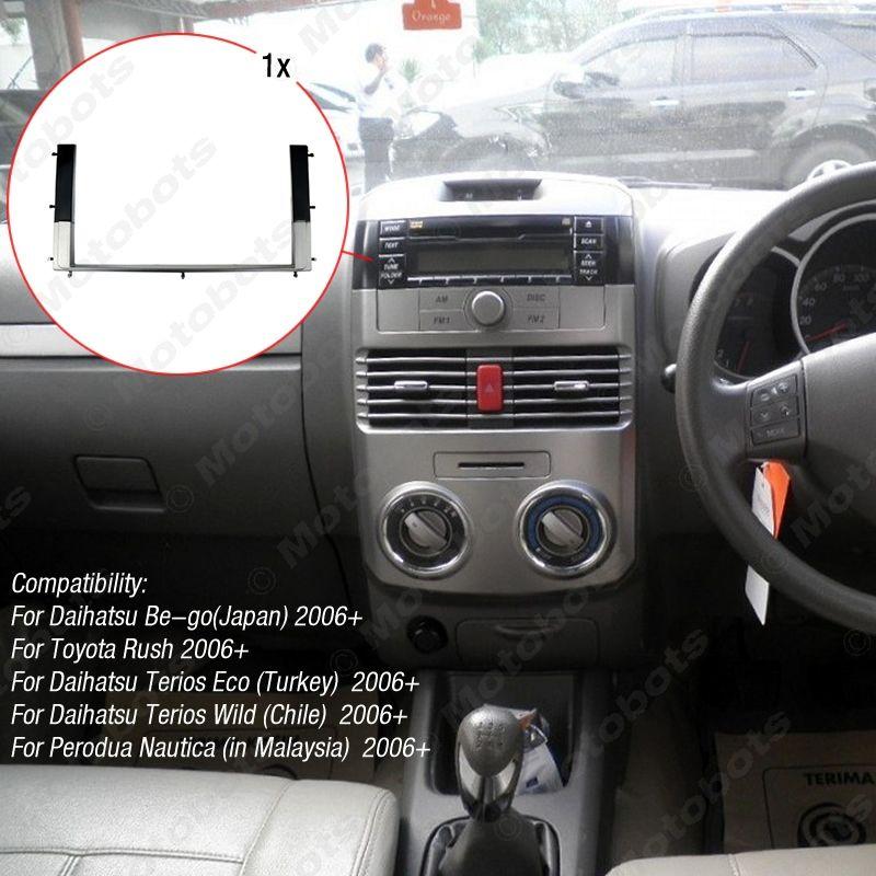 Araç Yerine takma Radyo Stereo DVD Çerçeve Alın Yazısı İçin TOYOTA Rush / DAIHATSU Be-Go 2006 + / Perodua Nautica (2006+) # 1630 Terios