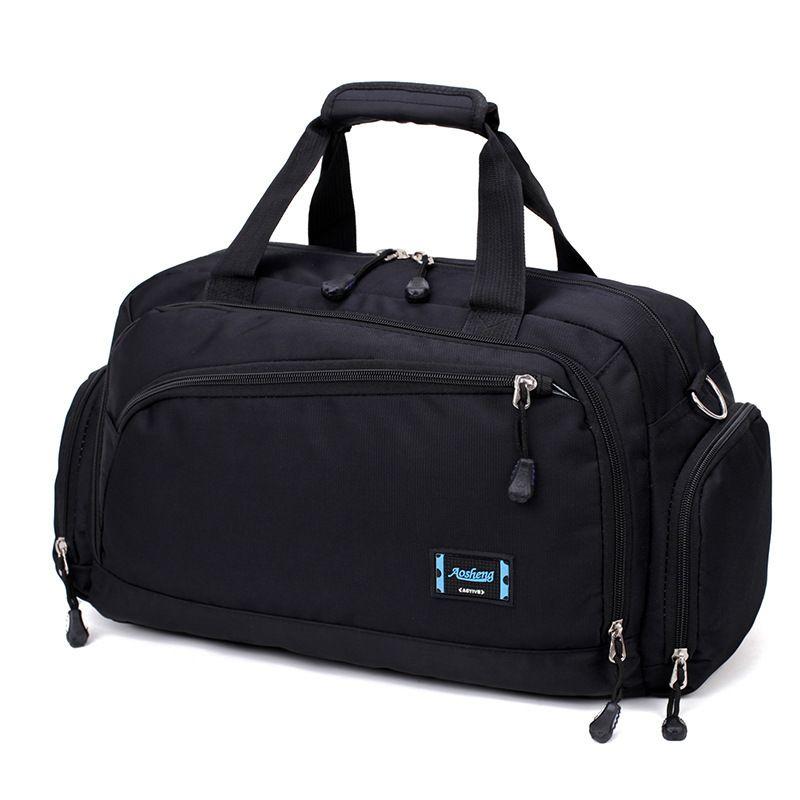 Gym Men Sports Fitness Pack Cylinder One Shoulder Sport Bag Women's Handbags Travel Bags Nylon Waterproof Handbag Package C19021301