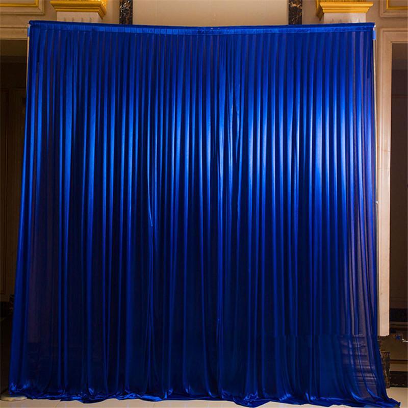 novia de seda de hielo contextos cortina para la etapa del banquete de boda decoración del partido simples cortina cubre decoración fondo