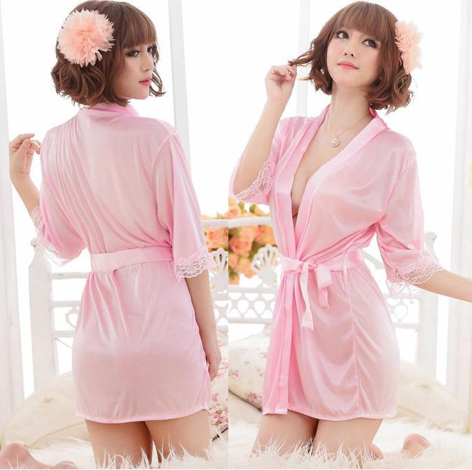 실크 섹시한 소매 nightdress 여성 여름 잠옷 얼음 실크 공주 유혹 nightdress XL 가정 서비스 목욕 가운