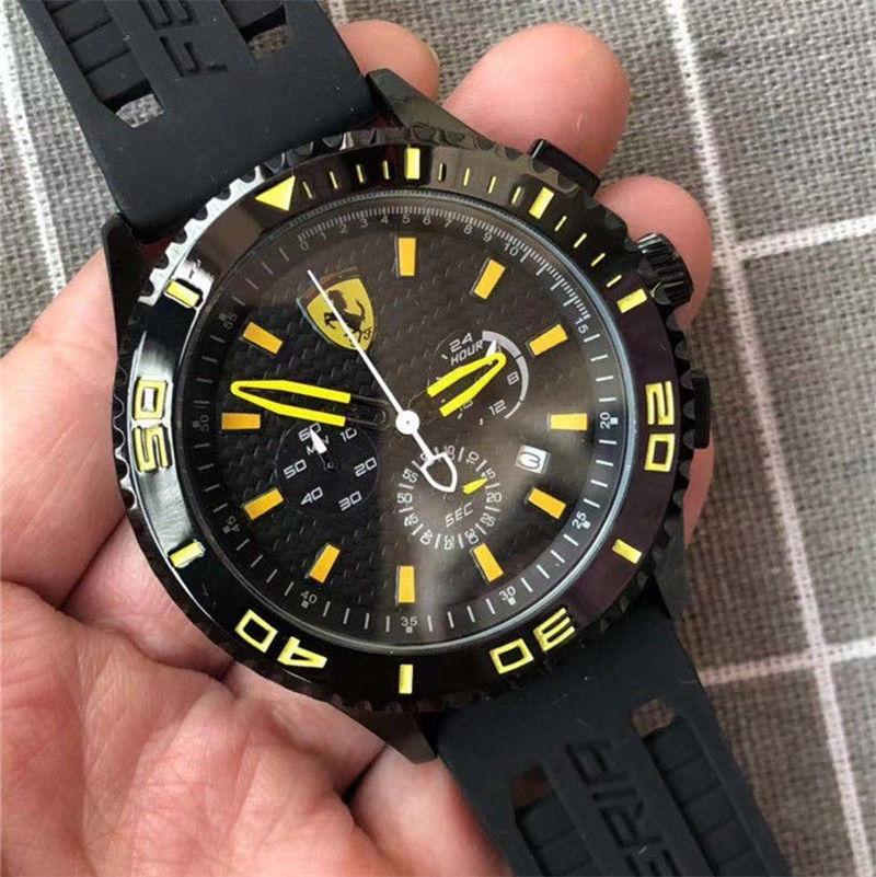 Todos pequeno mostrador esportes ostenta o carro do trabalho assistir relógios 42 milímetros de quartzo cronómetro relógios de luxo relojes relógio de pulso relógio marca esportiva dos homens de luxo