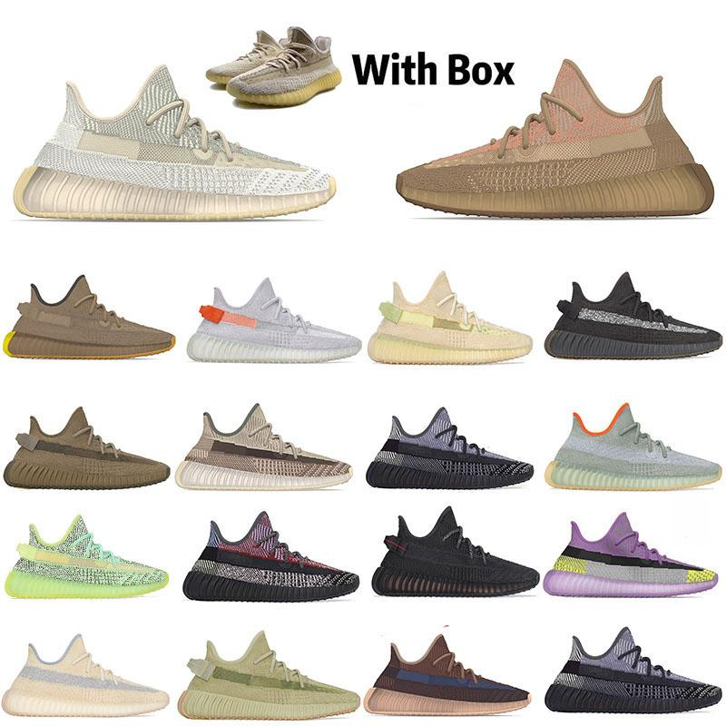 Kanye West Kükürt İsrafil Abez Eliada Koşu Ayakkabısı Keten cüruf Glow Tail Işık Top Sneakers Kadın Erkek 3M Yansıtıcı Keten ile Kutu 36-47