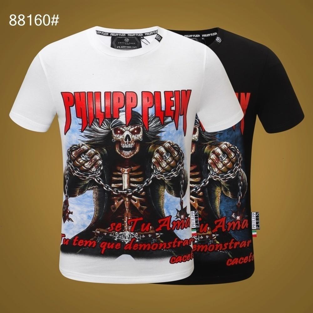 2020 primavera e verão MensT impressão camisa de algodão T-shirt dos homens encabeça o transporte livre 191128-5981 * 1294