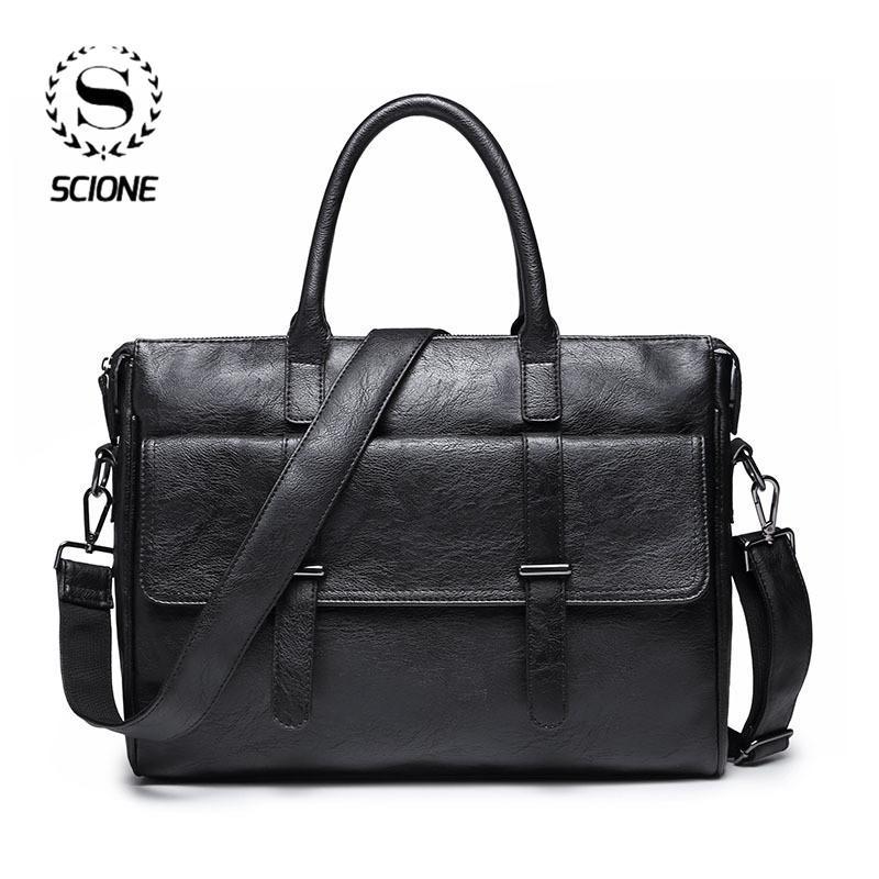 Деловая сумка кожаный портфель мешок Скиона для мужчин Для мужчин Офис Laptop Messenger, кожа тотализатор